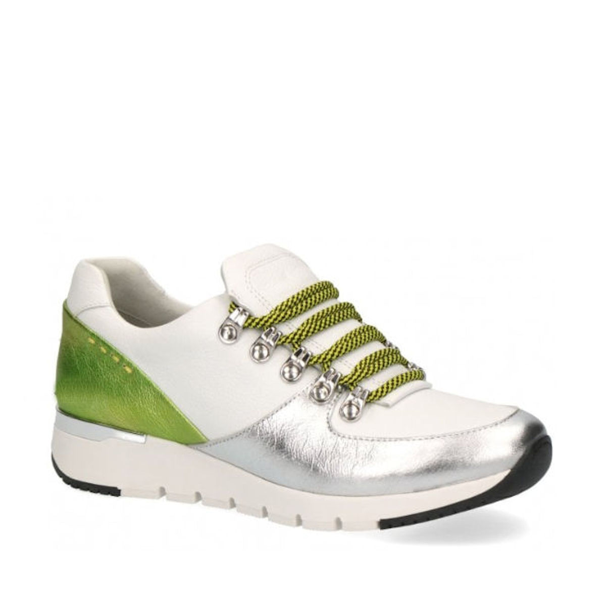 Caprice 23705-24 White Lime Trainers