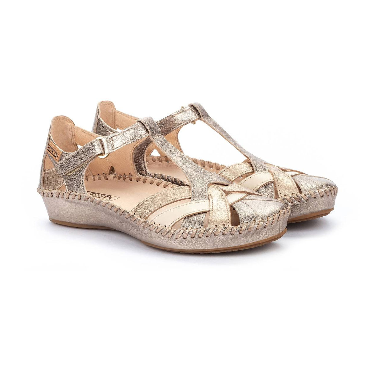 Pikolinos P Valleta Stone Closed Toe Sandal