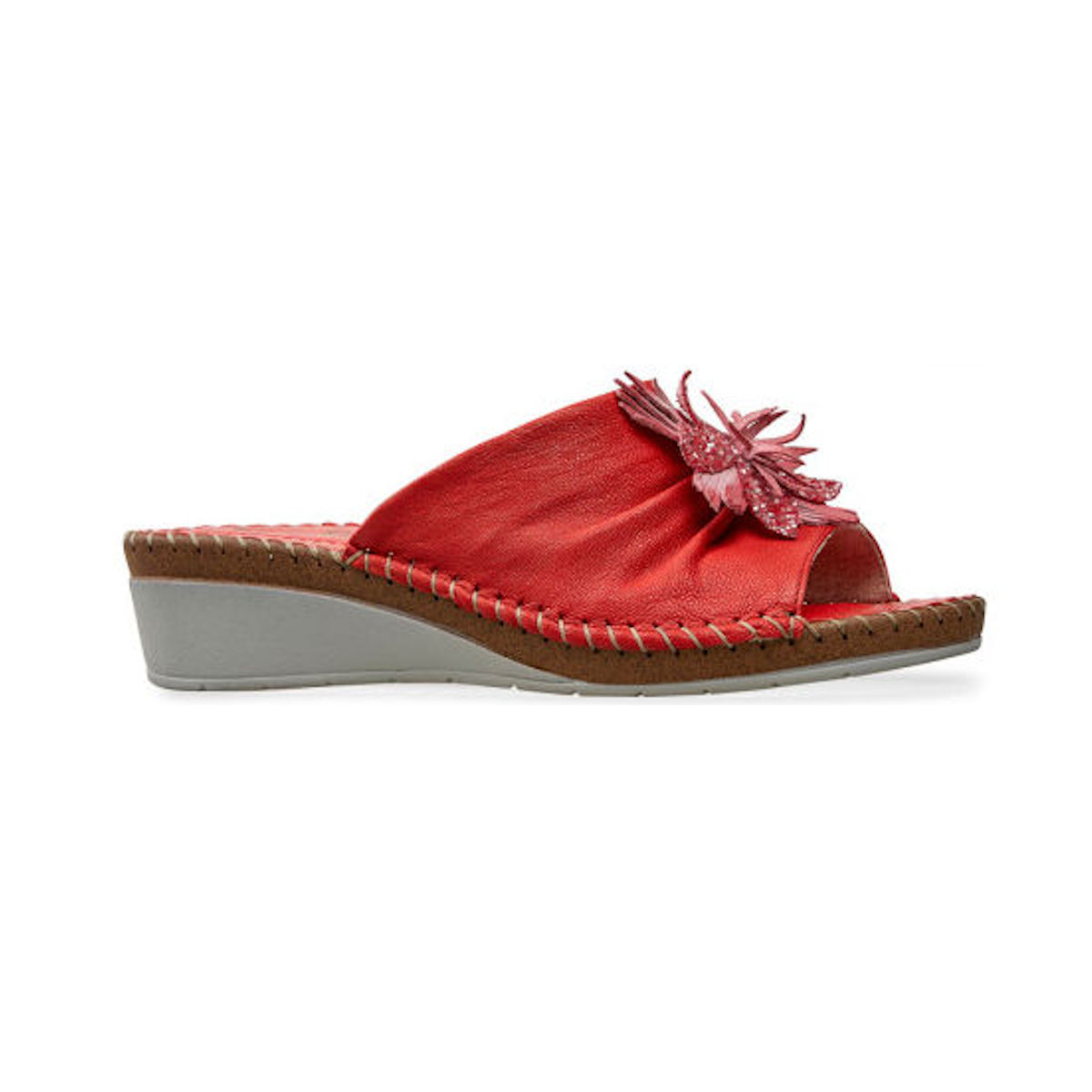 Van Dal Banks Red Leather Womens Sandal
