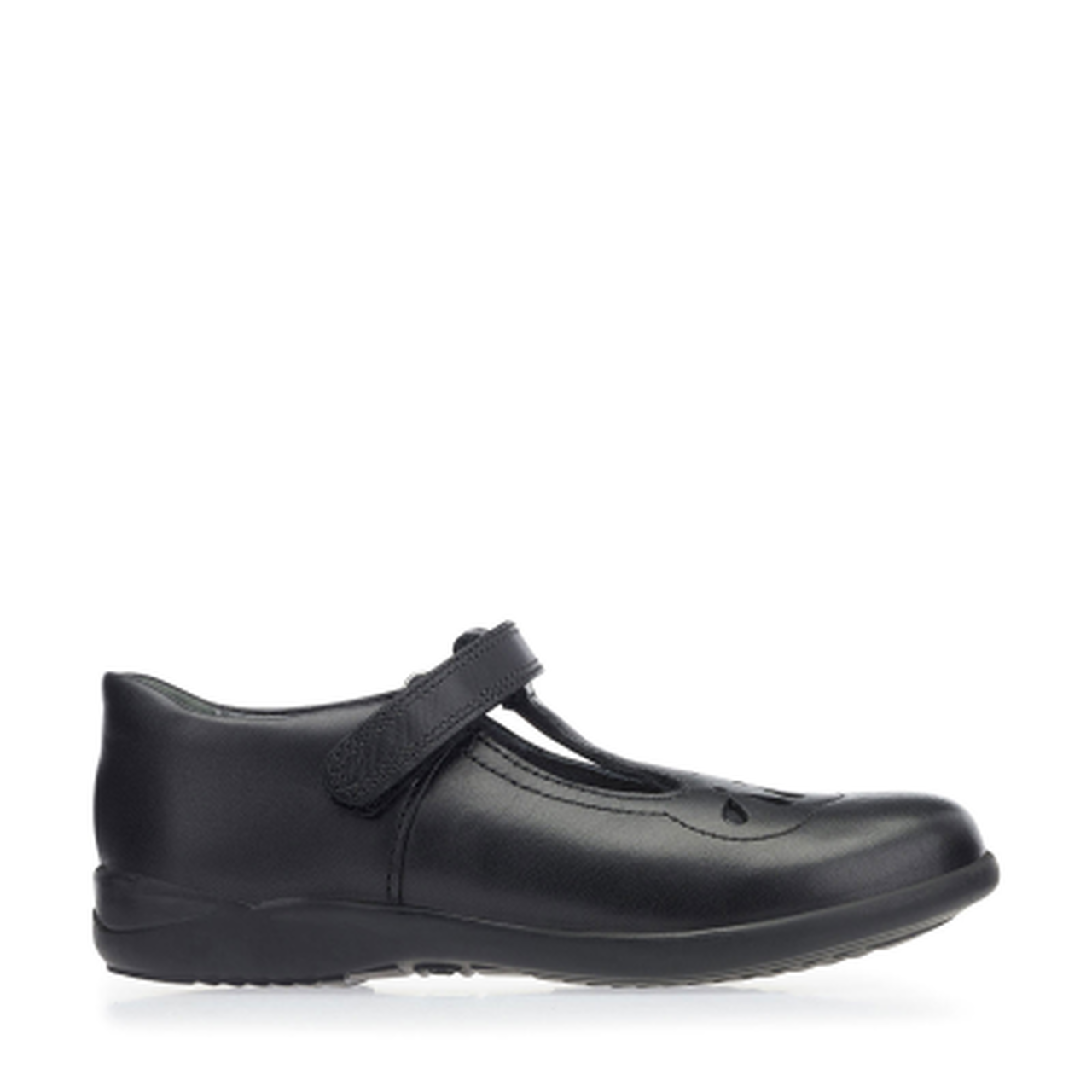 Start-rite Poppy Girls Black Leather Shoe