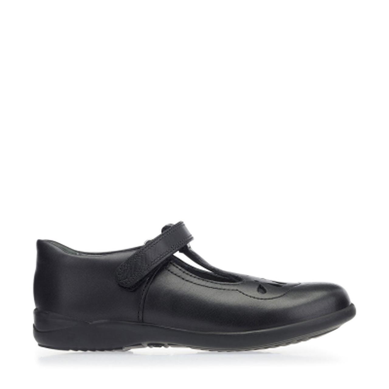 Start-rite Poppy Girls Black Leather Shoe