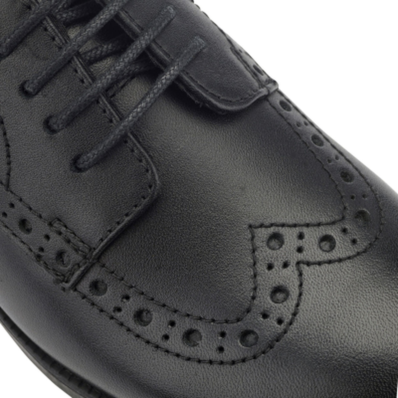 Start-rite Brogue PRI Black Leather School Shoe