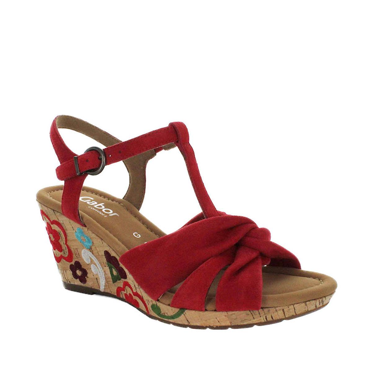 22 828 48 gabor red sandal