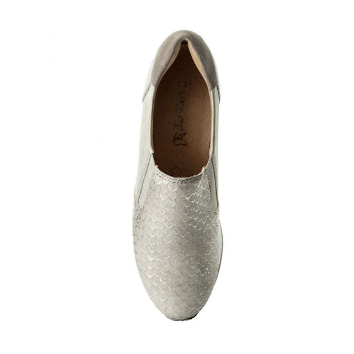 Caprice 9-24603-20 - Light Grey Leather Shoes