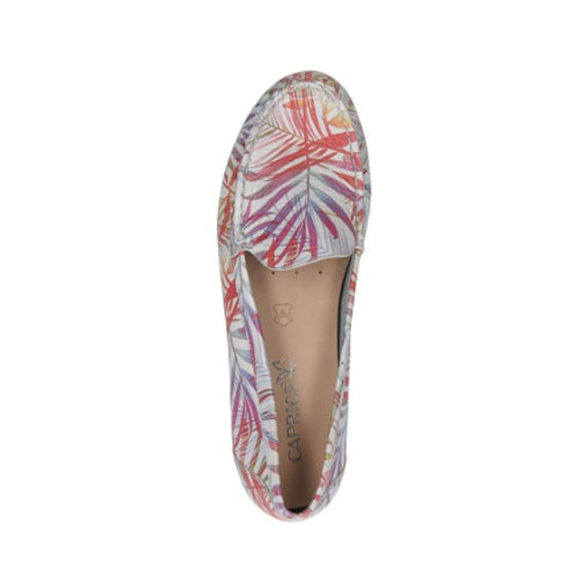 Caprice Palm Deer printed leather shoes