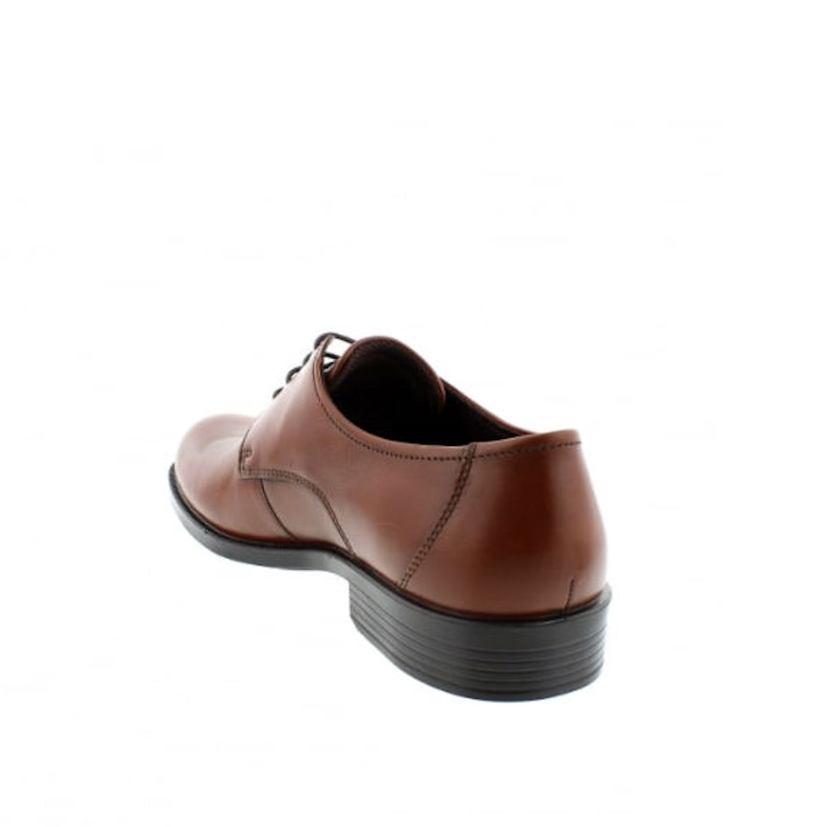 ECCO Harold - Mens Cognac Brown Leather Derby Shoe