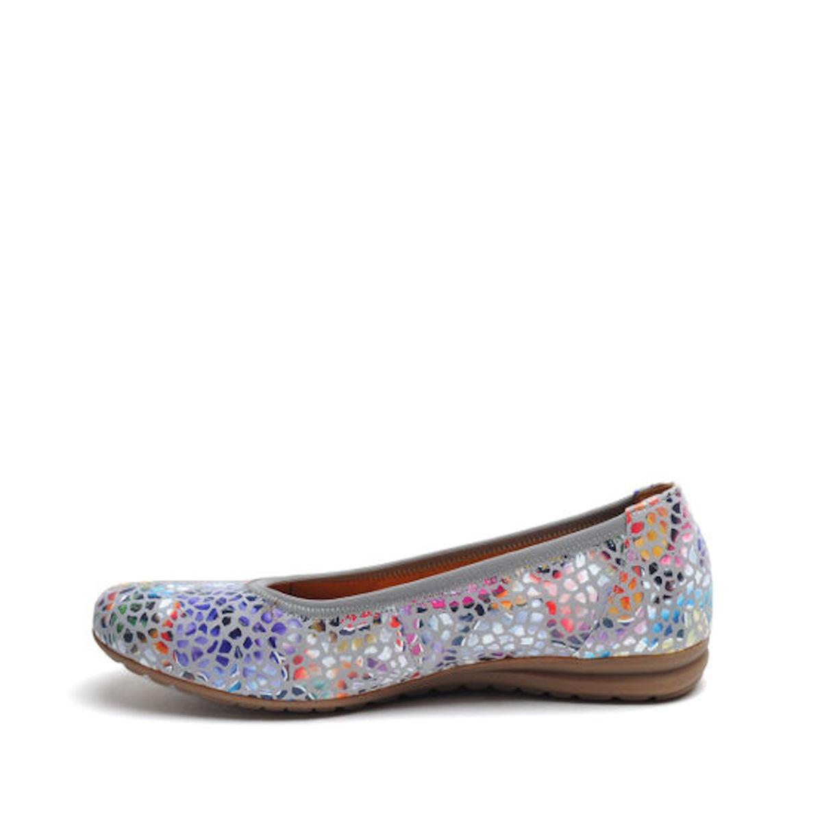 Gabor Splash - Womens Stone / Floral Multi Leather Pump