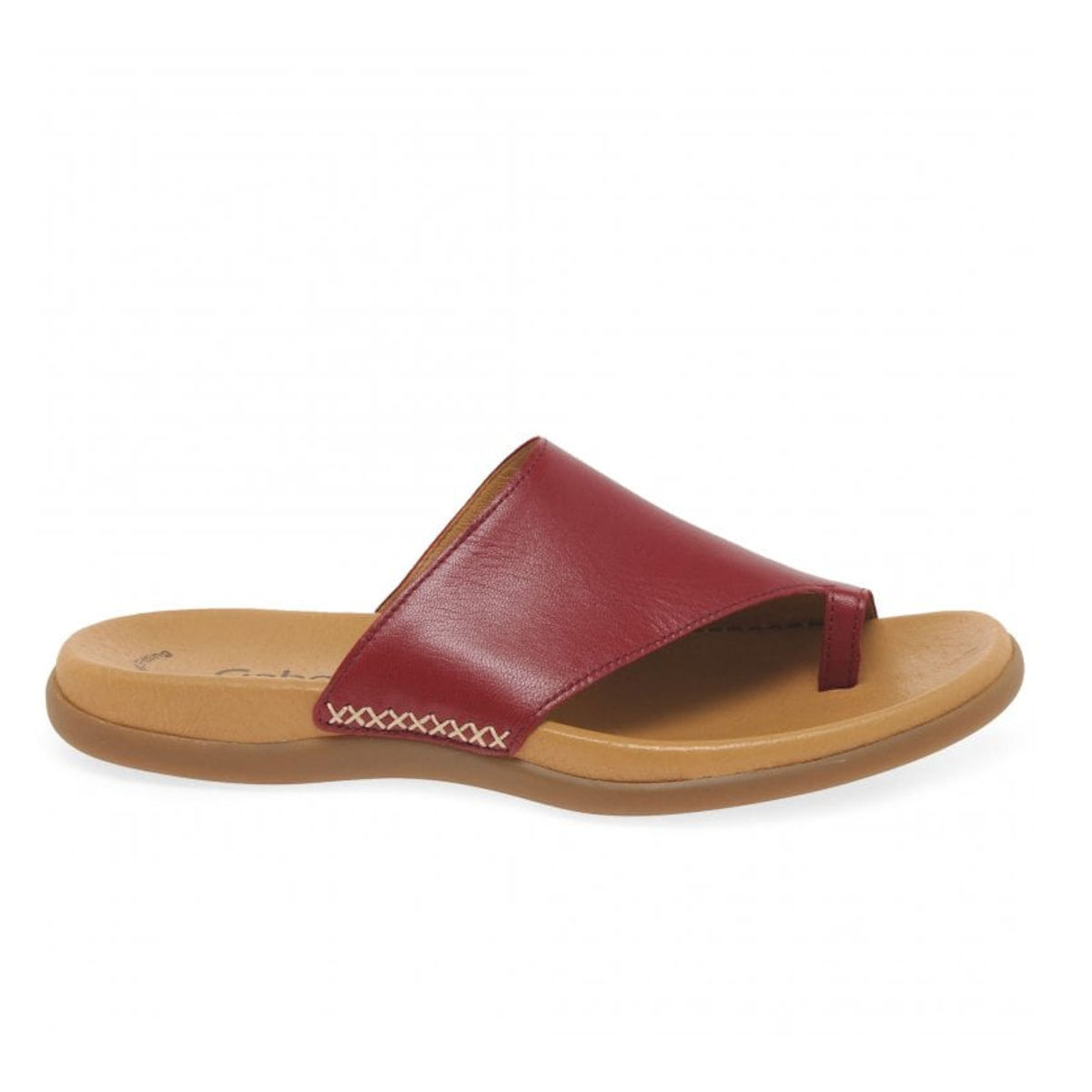 Gabor Lanzarote Red Toe Ring Womens Mule