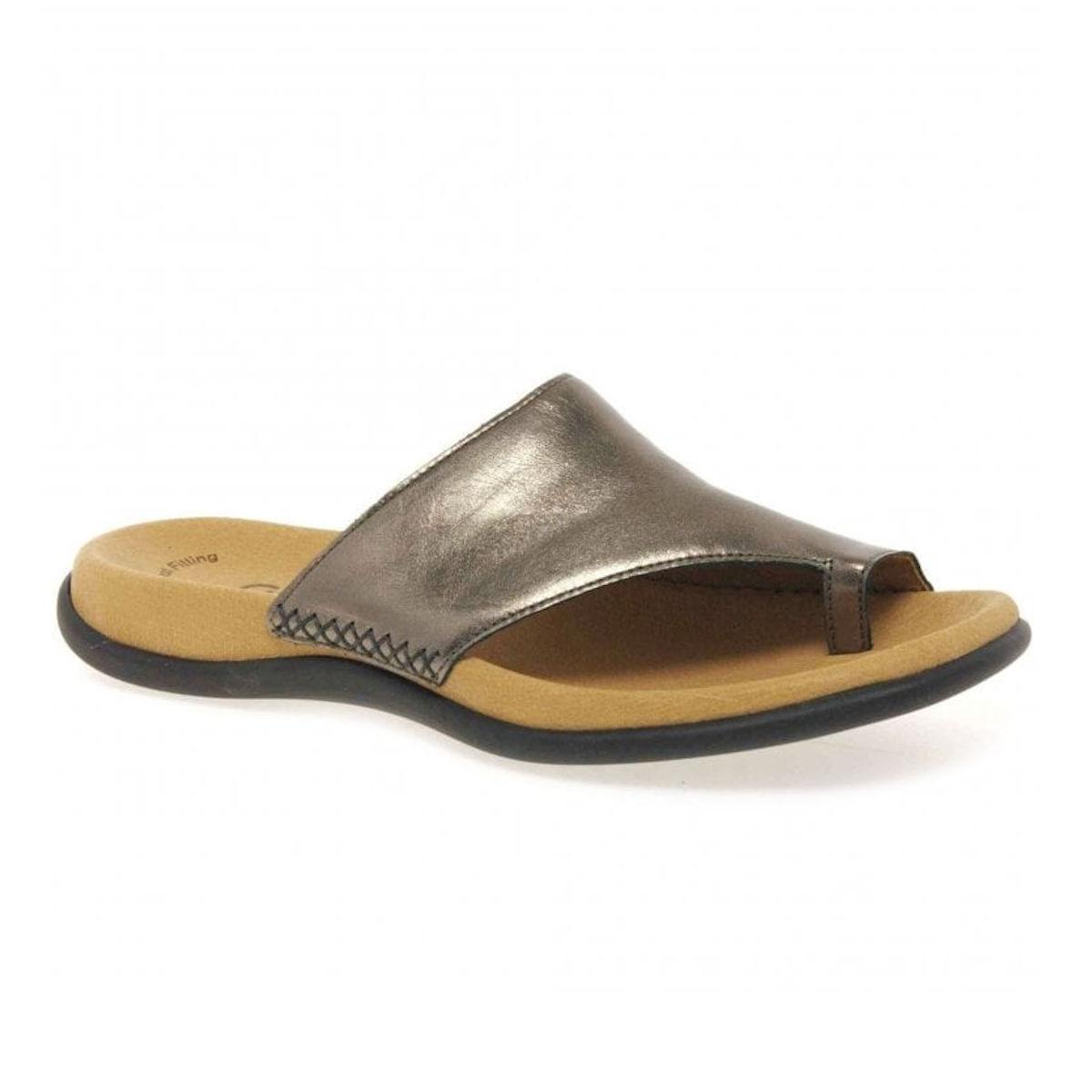 Gabor Lanzarote Silver Toe Ring Mule