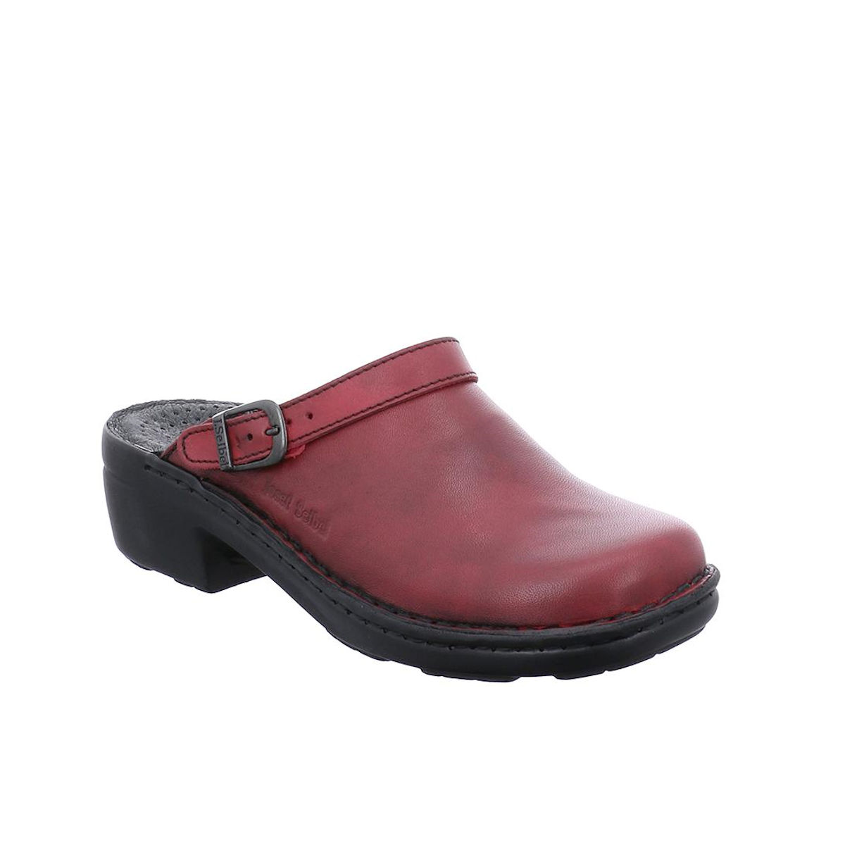 Josef Seibel Betsy Red Hibiscus Slip on Mule