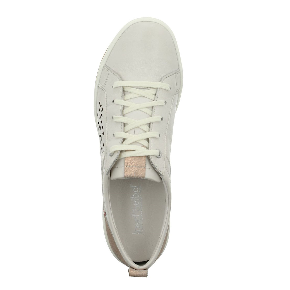 Josef Seibel Caren 06 - Womens Casual White Leather Trainer