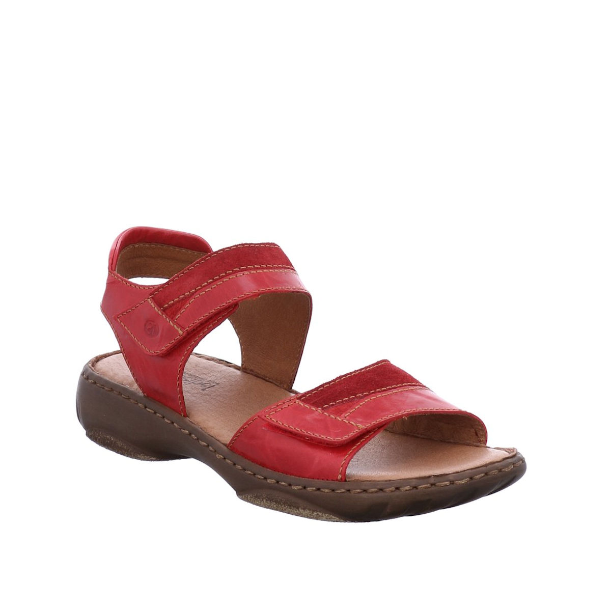 Josef Seibel Debra 19 - Womens Adjustable Red Leather Sandal