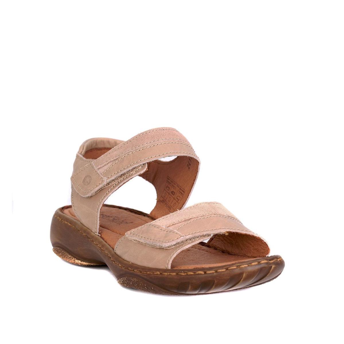 Josef Seibel Debra 19 - Womens Adjustable Sand Leather Sandal