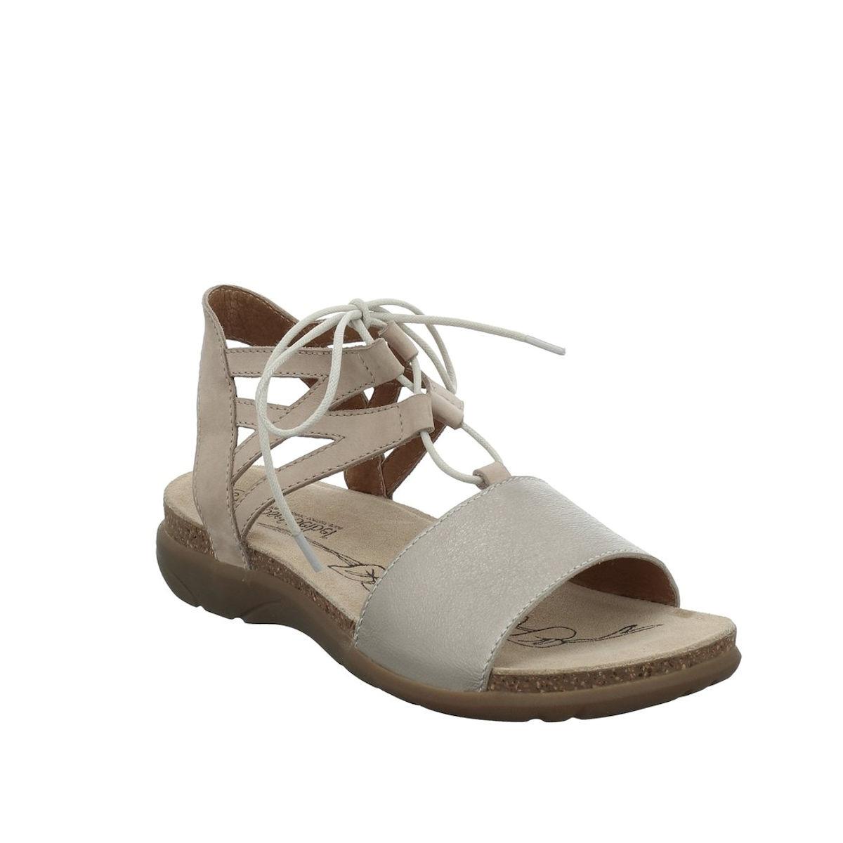 Josef Seibel Riley 06 - Womens Beige Leather Gladiator Style Sandal