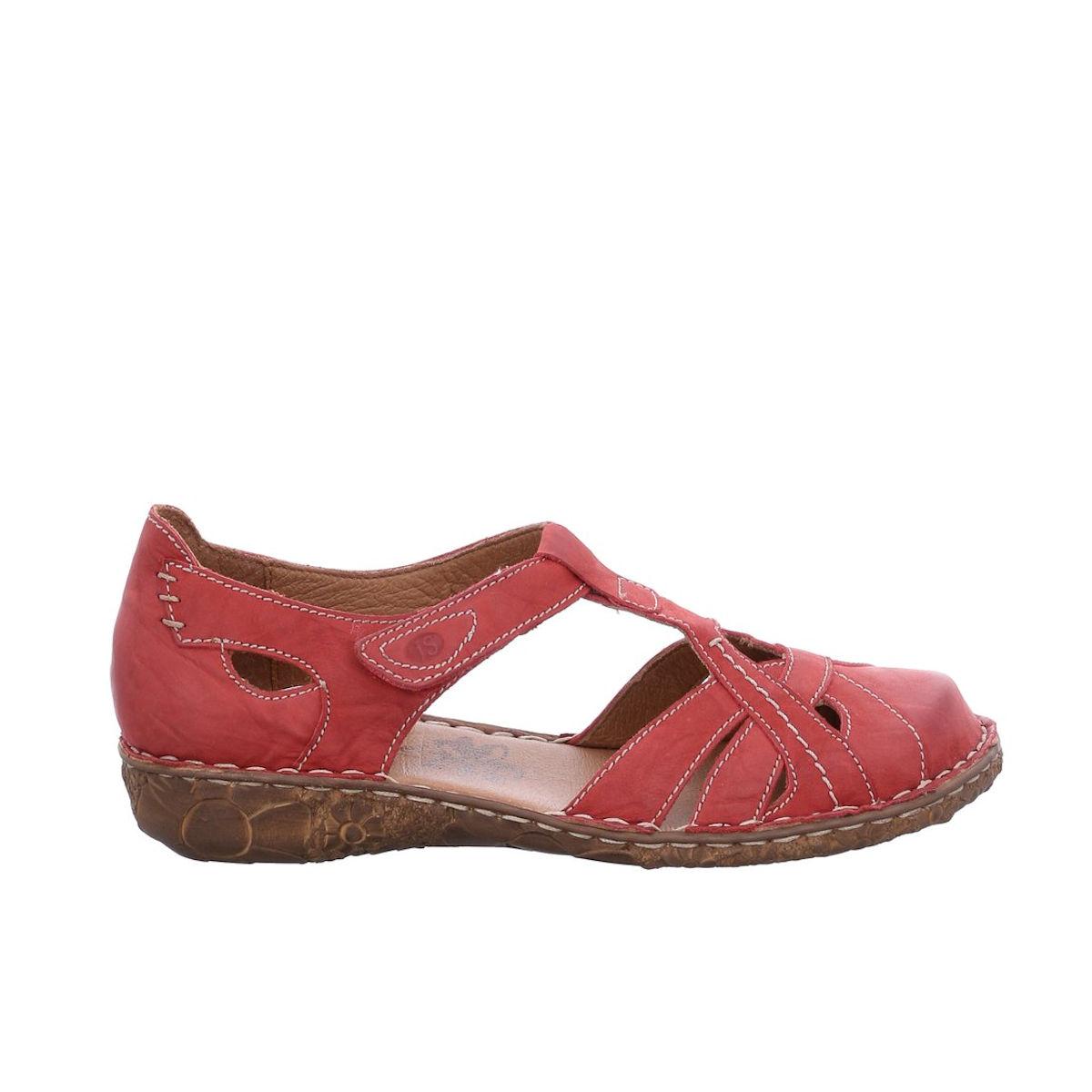 Josef Seibel Rosalie 29 - Womens Red Hibiscus Closed Toe Sandal