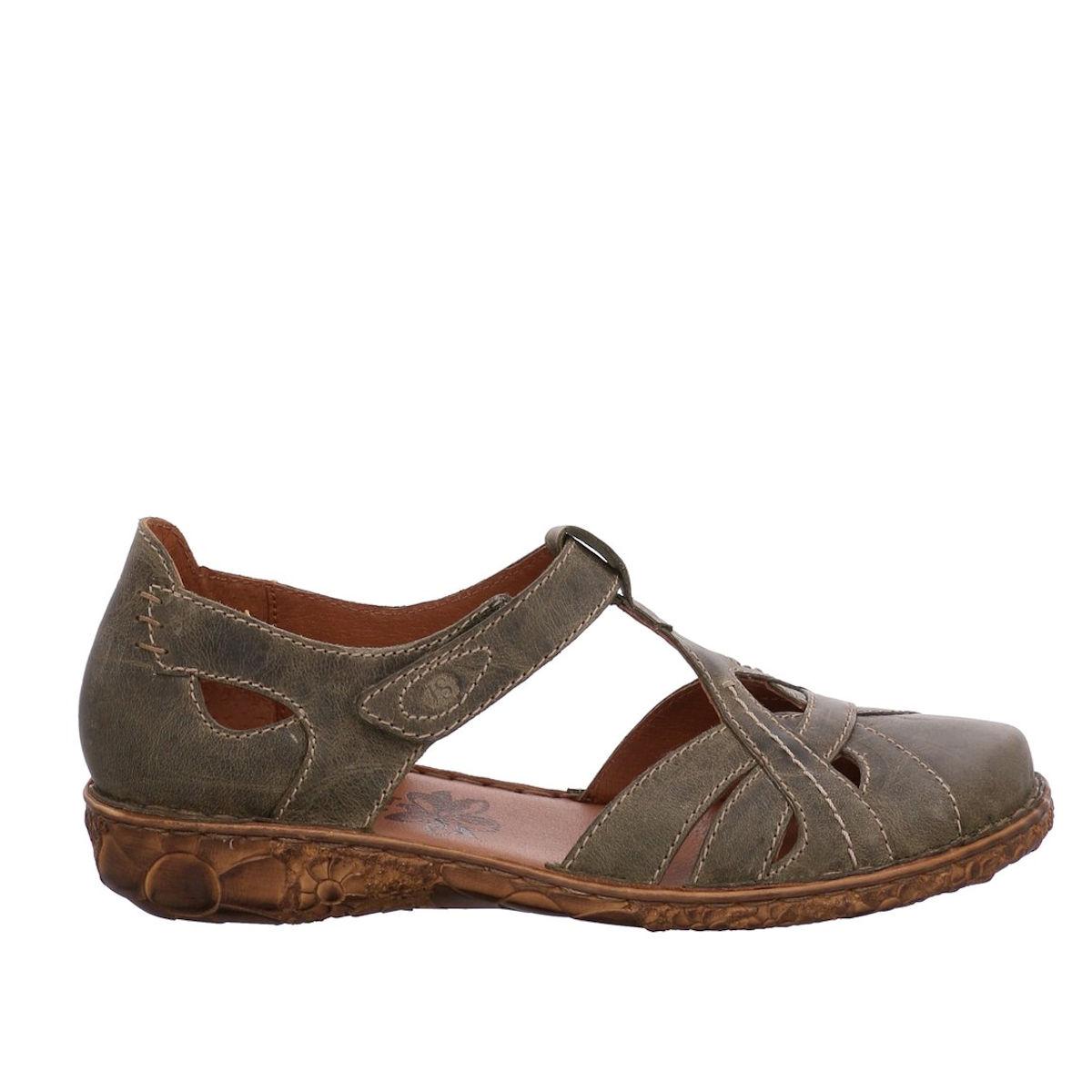 Josef Seibel Rosalie 44 - Womens Olive Closed Toe Sandal