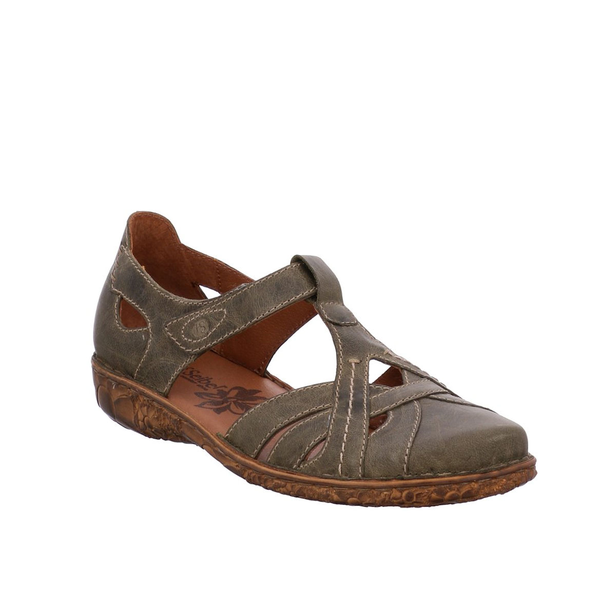 Josef Seibel Rosalie 44 - Womens Olive Closed Toe Sandal