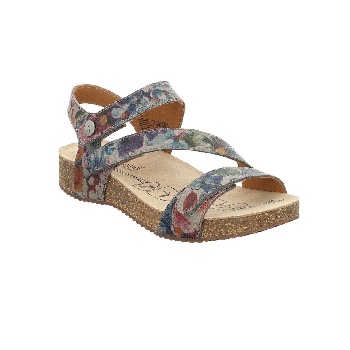 Josef Seibel Tonga 25 Graphite Print Womens Sandal