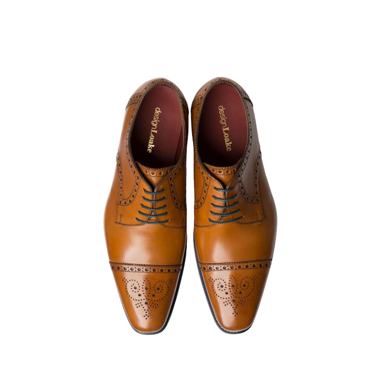 Loake Foley Mens Tan Brogue Derby Lace Up Shoe