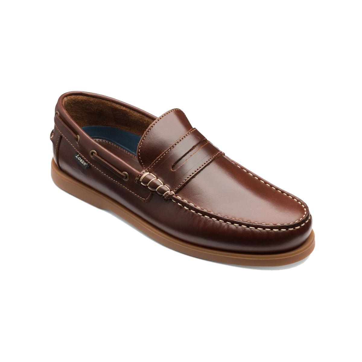 Loake Plymouth Mens Brown Deck Shoe
