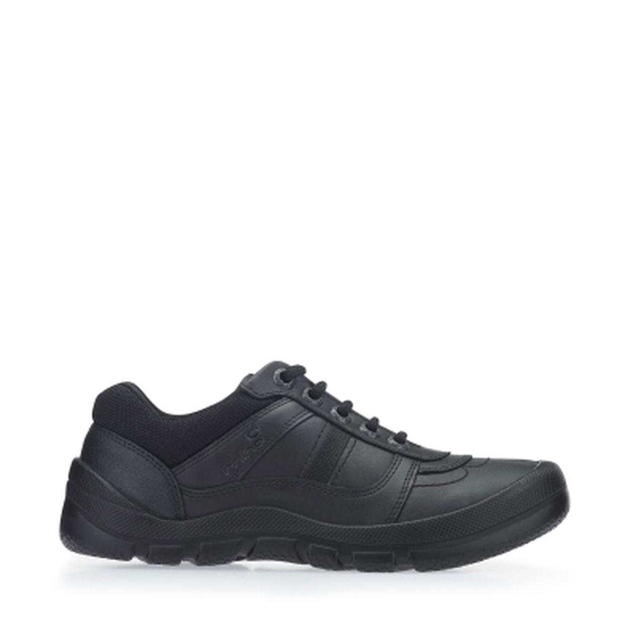 Start-rite Rhino Sherman Boys Black Leather Shoe