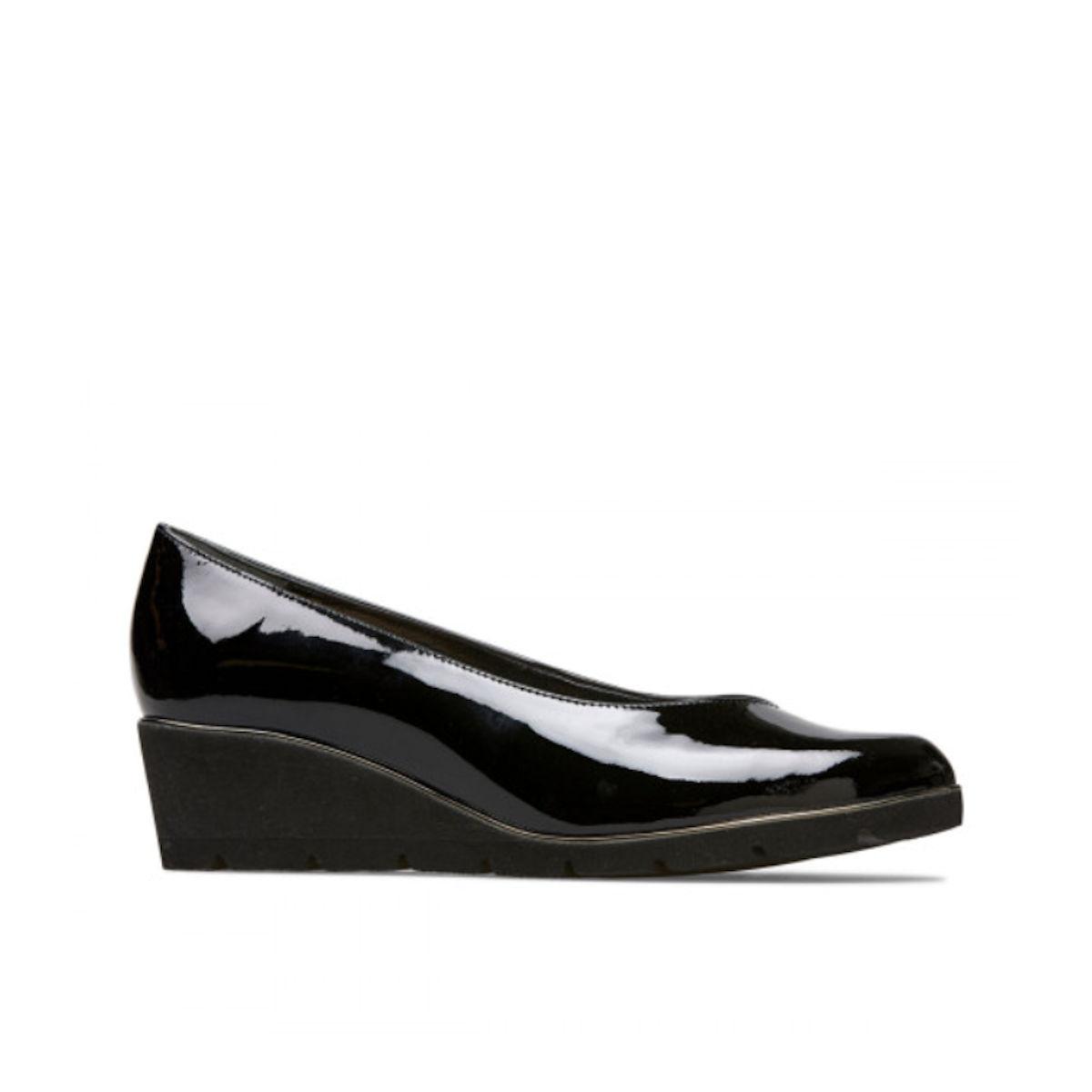 Van Dal Ariah Black Patent Wedge Shoes