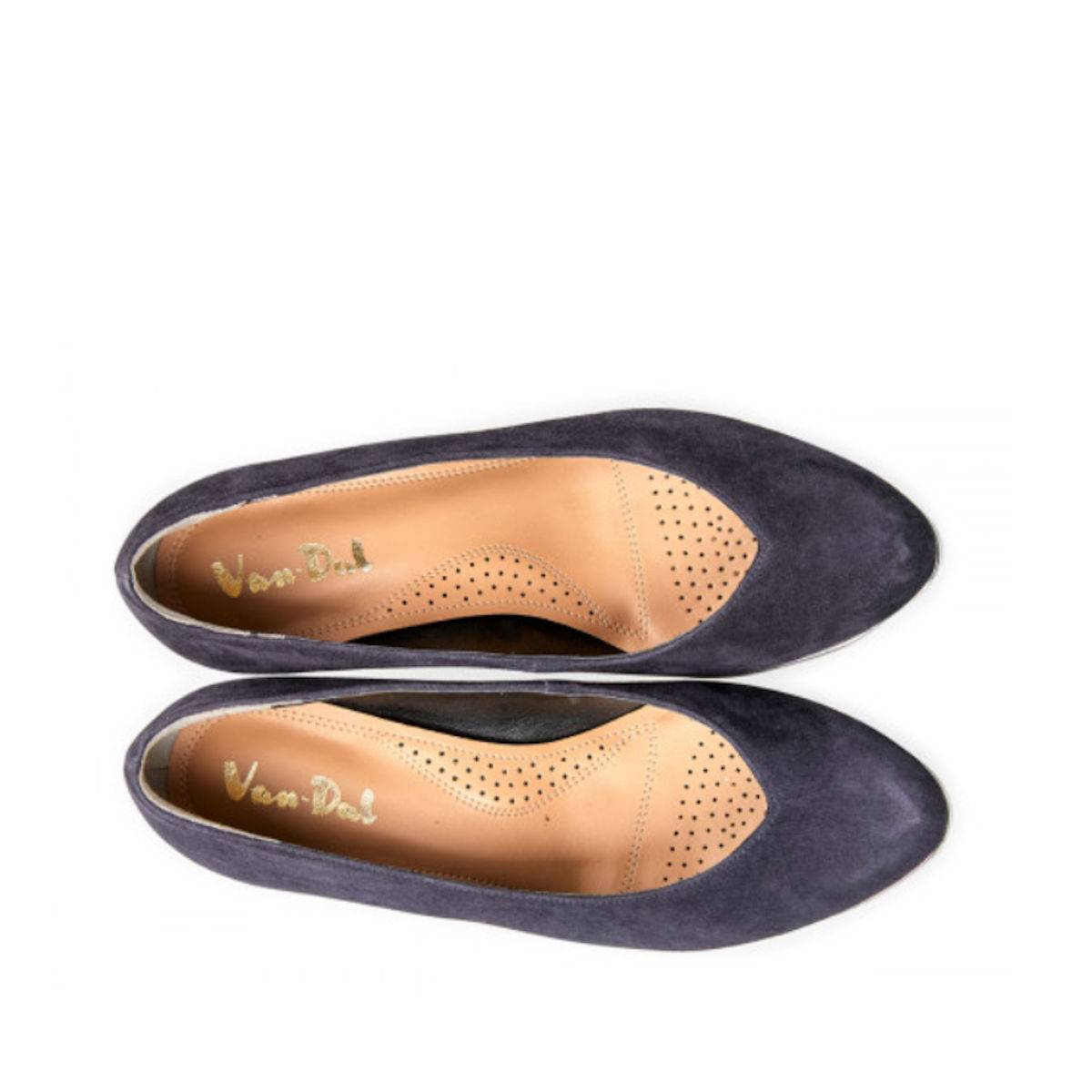 Van Dal Ariah Midnight Summer Suede Wedge Shoes
