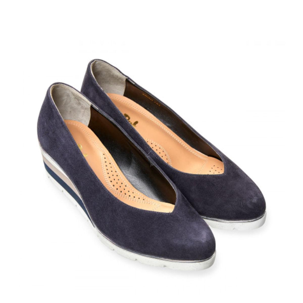 Van Dal Ariah Midnight Summer Suede Wedge Shoes