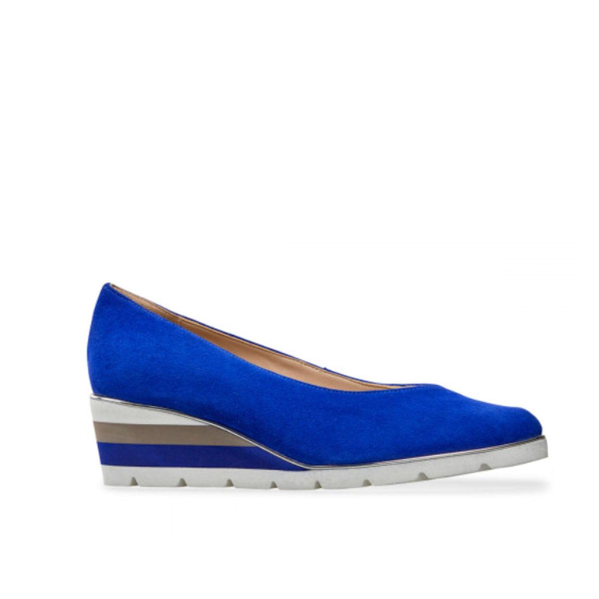 Van Dal Ariah Womens Ultramarine Suede Wedge Shoe