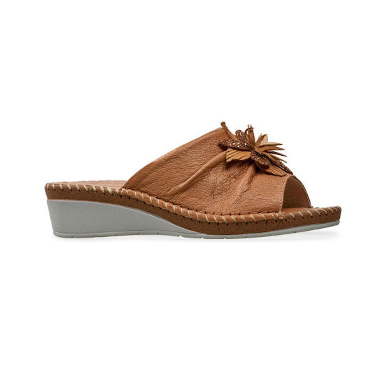 Womems Van Dal Banks Camel Leather Sandal