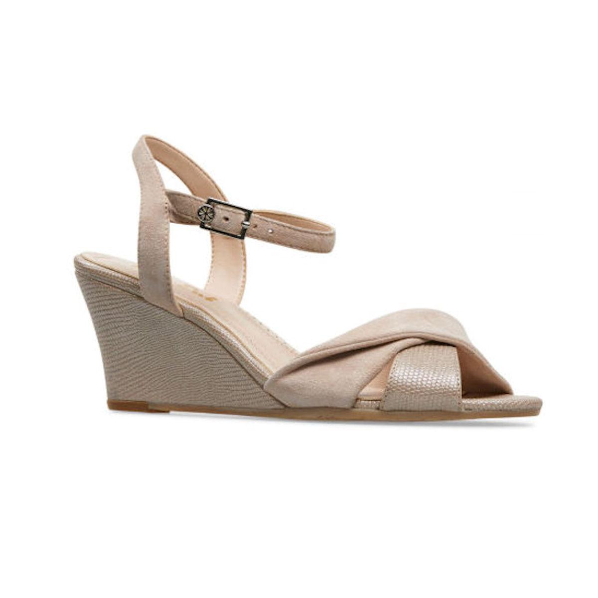 Van Dal Forster Sesame Suede Block Heel Womens Sandal