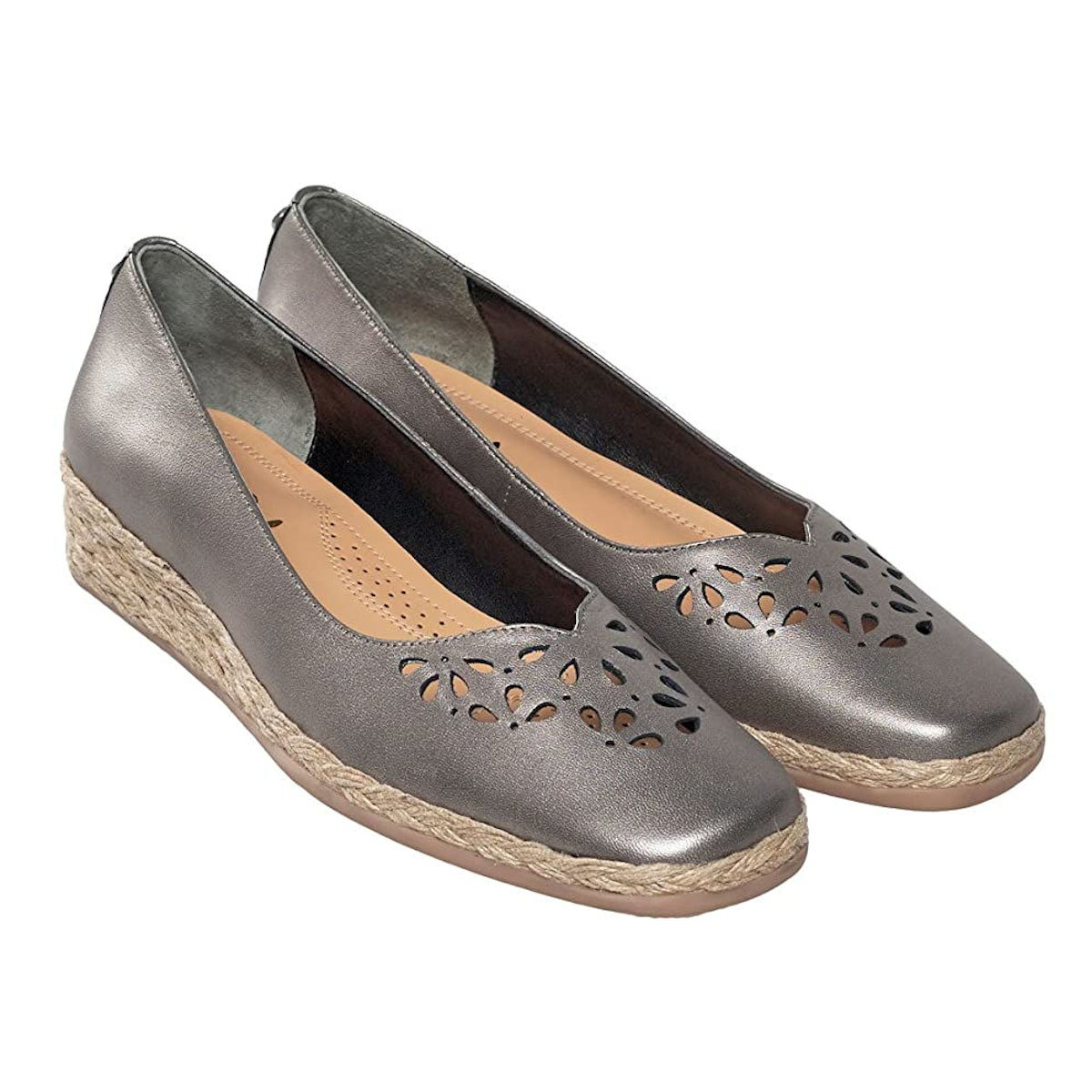 Womens Van Dal Franklin Metal Pearlised Wedge Shoe