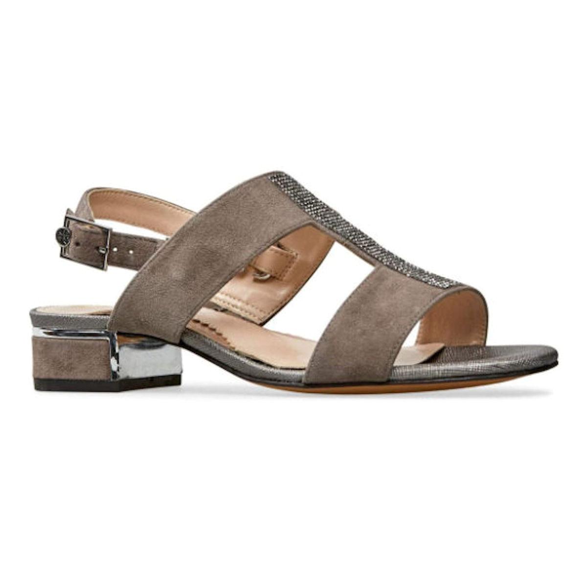 Van Dal Ione II Moss Suede Sling Back Womens Sandal