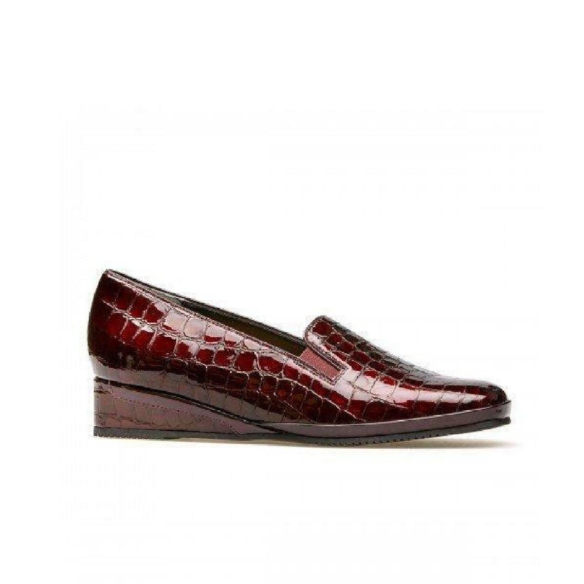 Van Dal Ladies Rochester Garnet Patent Croc Leather