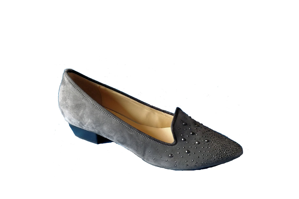 Gabor Ladies Dark Grey Nubuk Slipper